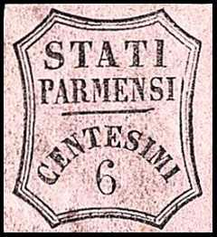 1853 - Segnatasse per giornali - ottagono a linee curve