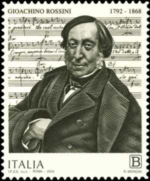 Patrimonio artistico e culturale italiano : 150° Anniversario della morte di Gioachino Rossini