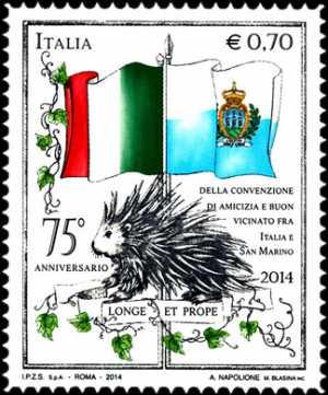 75° Anniversario della convenzione internazionale tra l'Italia e la Repubblica di San Marino
