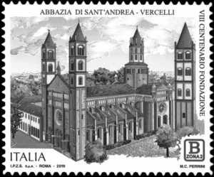 Patrimonio artistico e culturale  italiano : Abbazia di Sant'Andrea di Vercelli - VIII° Centenario della fondazione