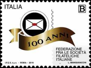 Federazione fra le Società Filateliche Italiane - Centenario della costituzione