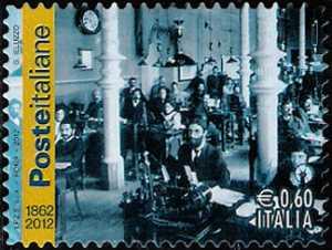 150º anniversario delle poste italiane - Ufficio telegrafico