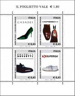 Italia 2004 - foglietto «Made in Italy» - Calzature italiane