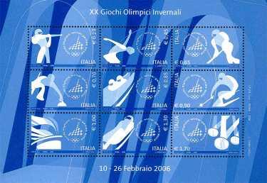 Italia 2006 - foglietto «Torino 2006» - XX Giochi Olimpici Invernali