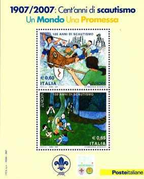 Italia 2007 - foglietto  Centenario dello Scautismo
