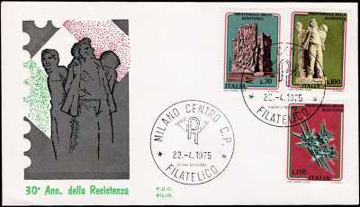 1975 - Trentennale della Resistenza - busta 1° giorno FDC Siligato