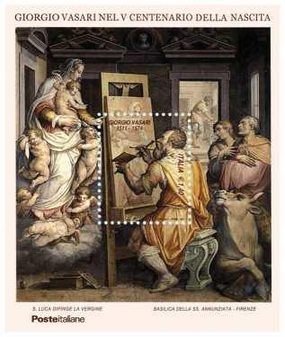 Italia 2011 - 5º centenario della nascita di Giorgio Vasari - foglietto