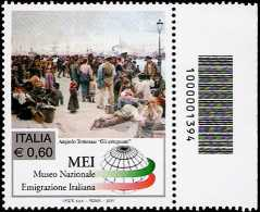 Italia 2011 - Museo nazionale dell'emigrazione italiana - codice a barre n° 1394