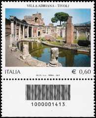 Italia 2011 - Villa Adriana - codice a barre n° 1413