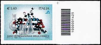 Italia 2011 - Anno internazionale della chimica - codice a barre n° 1425