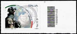 Italia 2011 - Missioni militari italiane all'estero - codice a barre n° 1432