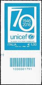 70° Anniversario della istituzione dell' UNICEF