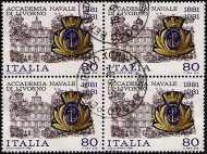 1981 - Centenario della fondazione dell'Accademia Navale di Livorno - L. 80