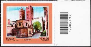 Turistica -  43ª emissione : - Albenga ( SV ) - francobollo con codice a barre n° 1755