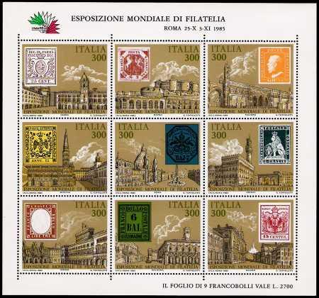 Esposizione internazionale di filatelia  « Italia '85 » a Roma