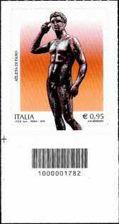 Atleta di Fano - francobollo con codice a barre n° 1782
