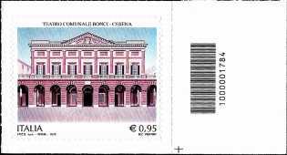Teatro Comunale «Bonci» - Cesena - francobollo con codice a barre n° 1784