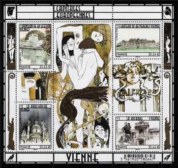 francia 2014 - Le capitali europee - Vienna - foglietto