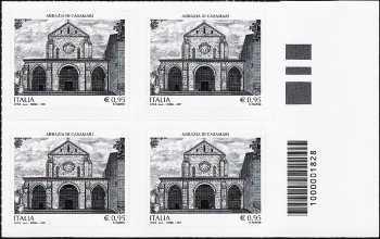 Abbazia di Casamari - quartina con codice a barre n° 1828