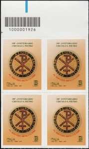 Circolo San Pietro - 150° Anniversario della fondazione - quartina con codice a barre n° 1926