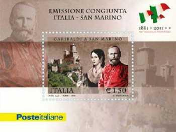 Italia 2011 - Foglietto Garibaldi - Emissione congiunta Italia-San Marino