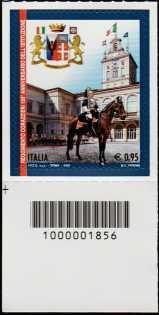 150° Anniversario della istituzione del Reggimento dei Corazzieri - francobollo con codice a barre n°1856