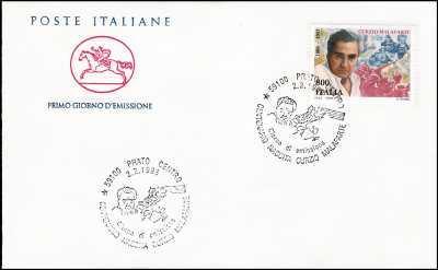 1998 - Curzio Malaparte  - FDC  CAVALLINO - Annullo ufficiale Roma Filatelico