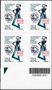 60° Anniversario della AIDIA - Associazione Italiana Donne Ingegneri e Architetti - quartina con codice a barre n° 1831