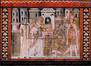1700° Anniversario dell'Editto di Milano - foglietto