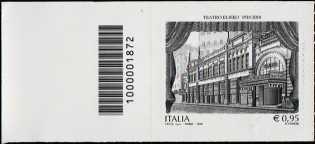 Teatro Eliseo di Roma - Centenario della inaugurazione  - francobollo con codice a barre n° 1872