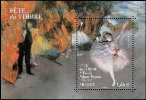 "Francia 2017 - Festa del Francobollo - ""L'Étoile""  di Edgar Degas"