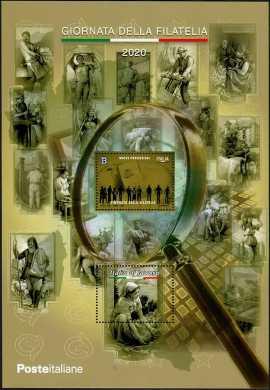 Giornata della Filatelia dedicata alle nuove professioni - foglietto