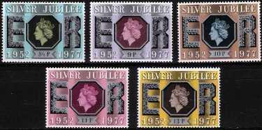 Gran Bretagna 1977 - 25° Anniversario dell'avvento al trono di Elisabetta II