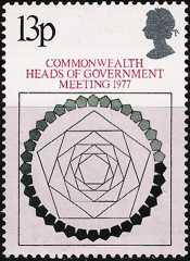 Gran Bretagna 1977 - Conferenza dei capi di governo del Commonwealth