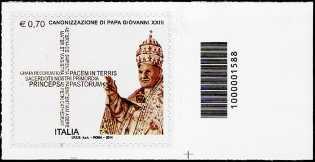 2014 - Canonizzazione Giovanni XXIII - codice a barre n° 1588