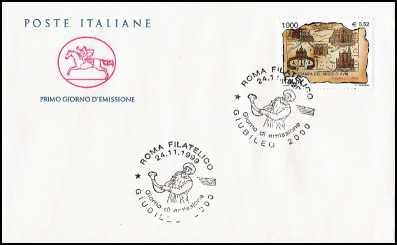 1999 - Giubileo 2000 - FDC  CAVALLINO - Annullo Roma Filatelico