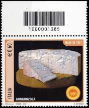 Italia 2011 -  «Made in Italy» - formaggio Gorgonzola - codice a barre n° 1385