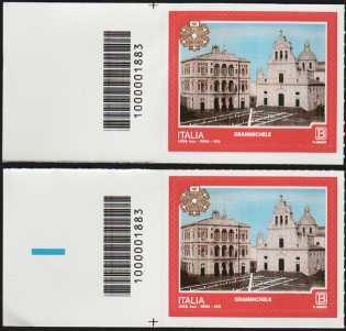 2018 - Turistica  45ª serie - Grammichele (CT) - coppia codice a barre n° 1883  Sinistra Alto-Basso