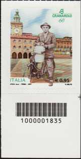 Eccellenze del sistema produttivo ed economico - Granarolo :  60° Anniversario della fondazione - francobollo con codice a barre n° 1835