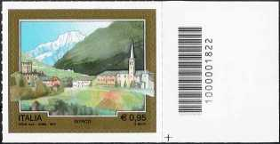 Turistica  44ª serie - Introd  (AO) - francobollo con codice a barre n° 1822
