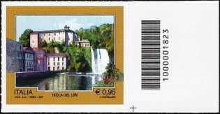 Turistica  44ª serie - Isola del Liri  (FR) - francobollo con codice a barre n° 1823