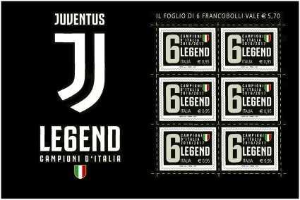 Italia 2017 - Minifoglio Campionato italiano di Calcio - Juventus
