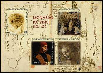 V° Centenario della morte di Leonardo da Vinci - foglietto