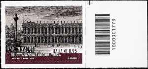 Biblioteca Nazionale Marciana - Venezia  - francobollo codice a barre n° 1773
