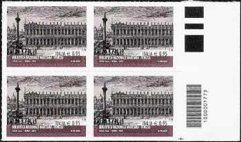 Biblioteca Nazionale Marciana - Venezia - quartina con codice a barre n° 1773