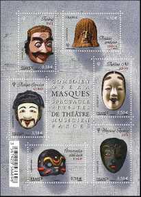Francia 2013 - foglietto - Maschere del Teatro