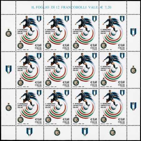 Italia 2007 - F.C. Inter campione d'Italia 2006/2007 -  minifoglio