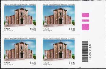 Abbazia di San Gervasio di Bulgaria - Mondolfo - quartina con codice a barre n° 1827
