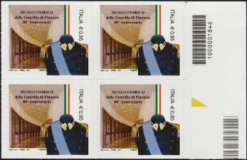 Museo Storico della Guardia di Finanza - 80° della istituzione - quartina con codice a barre n° 1846