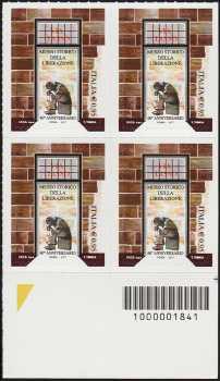 Museo Storico della Liberazione - 60° della istituzione - quartina con codice a barre n° 1841